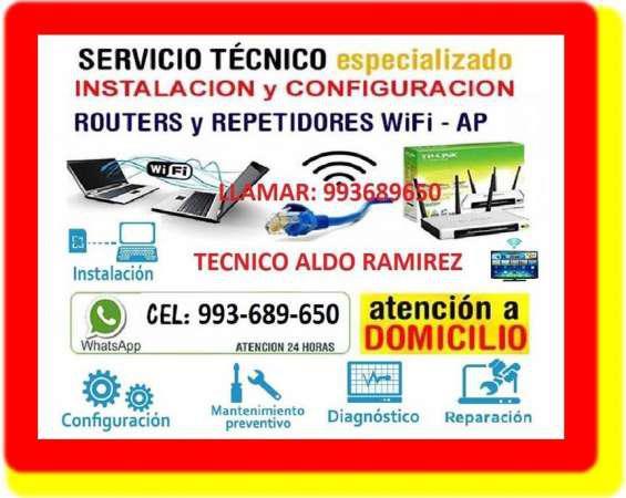 Tecnico de internet configuracion routers y cableados en