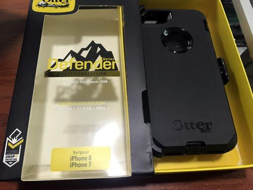 Case Protector Otterbox Para iPhone 7 8 Plus Defender Gancho