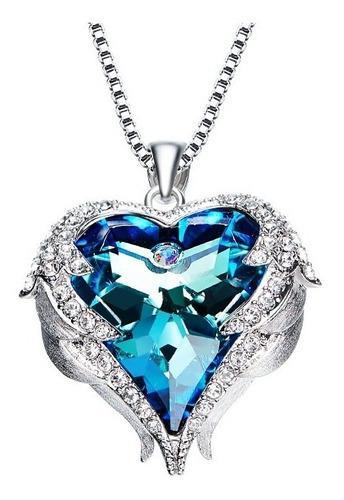 Collar Corazón Con Cristales Swarovski + Envío Gratis