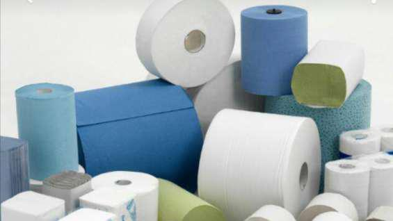 Ventas de papel higiénico, y servilletas, color blanco,