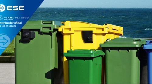 Contenedores Para Basura Reciclaje 4 Ruedas 1100 Lts C/tapa