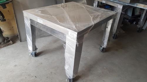 Mesa De Acero Inoxidable Industrial Con Rueda!! Hornos Pizza
