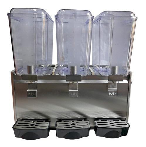 Refresquera 3 Tolvas 54 Lts Acero Nuevo Modelo Con Garantía
