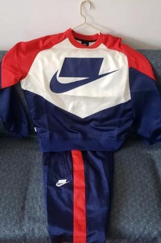 Buzo Completo Nike Nsw Woven Crew Talla Small Original Nuevo