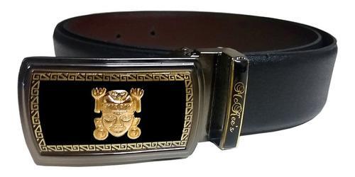 Correa Hombre Elegante Cinturón 100% Cuero Diseño Original
