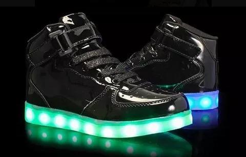 Zapatillas Con Luces Importadas Luces Led Recargables