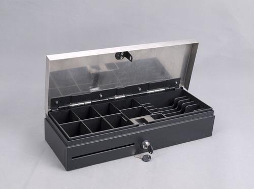 Gaveta Dinero Metalico Tipo Caja Fuerte Flip Flop 46x17x10cm