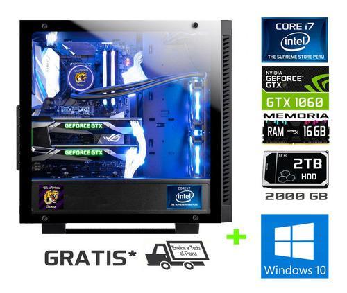 Cpu Gamer Core I7 + Video Nvidia 6gb + 16 Ram+ 2teras