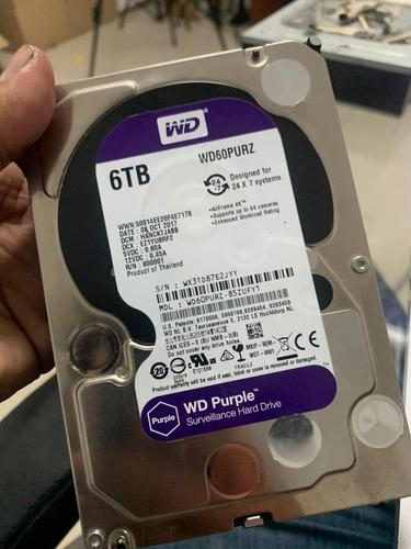 Disco Duro Western Digital De 6 Tb Purple Wd60purz, 6tb
