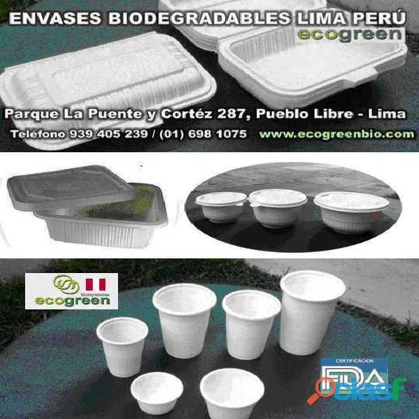 VASOS PLATOS biodegradables ECOLÓGICOS Lima Perú para