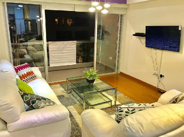 Alquiler de Exclusivo Departamento Amoblado en Miraflores