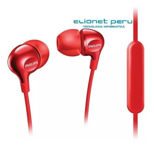 Audifono C/microf. Philips She3555rd Red Gloss