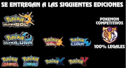 Pokémon Competitivos 6ivs Todas Las Gen Ultrasol Y Luna