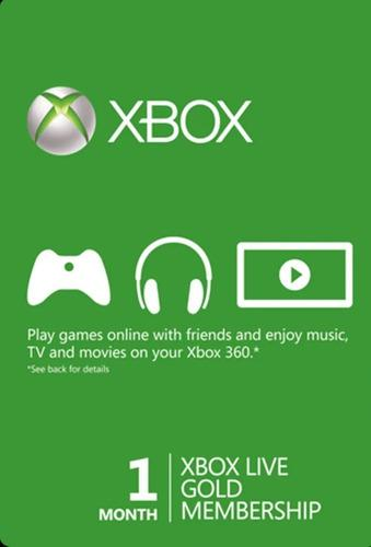 Xbox Live Gold 1 Mes - Xbox One - 360 Codigo Global