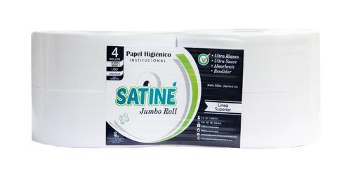Papel Higiénico Blanco Institucional Satiné 550m X 4u