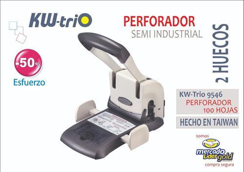 Perforador Semi Industrial Para 100 Hojas Kwtrio 9546