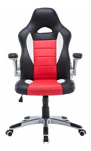 Silla Oficina Giratoria Reclinable Rojo / Negro