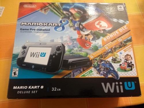 Wii U Mario Kart 8 + Dlc + Mando Personalizado + 7 Juegos