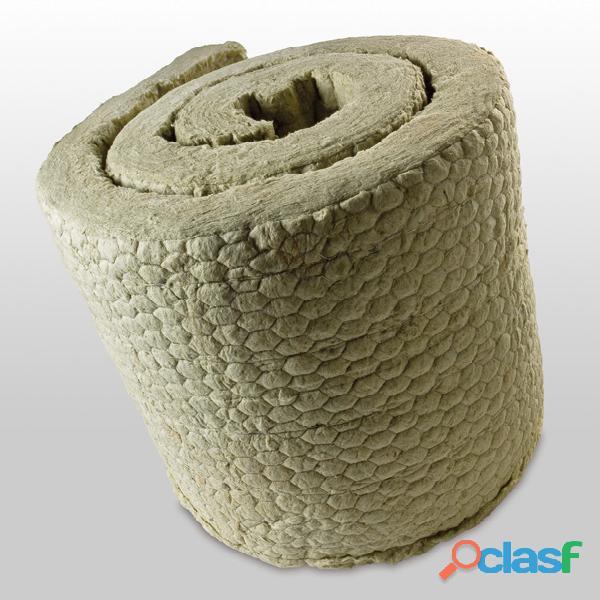 Manta de lana de roca con malla