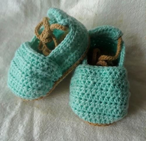 Zapato Tejido A Crochet Para Bebé
