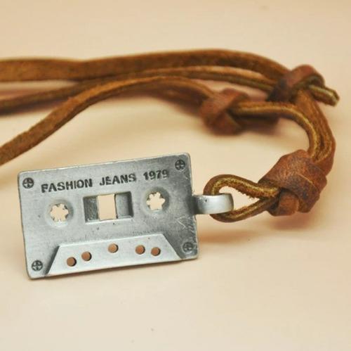 Collar De Cuero Auto Ajustable - Modelo Cassette
