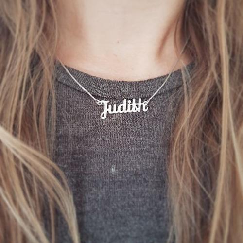 Collar (dije + Cadena) Nombre Personalizado En Plata 950