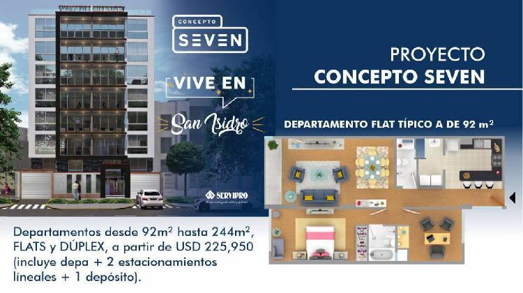 Proyecto Concepto Seven Departamentos y Duplex Total