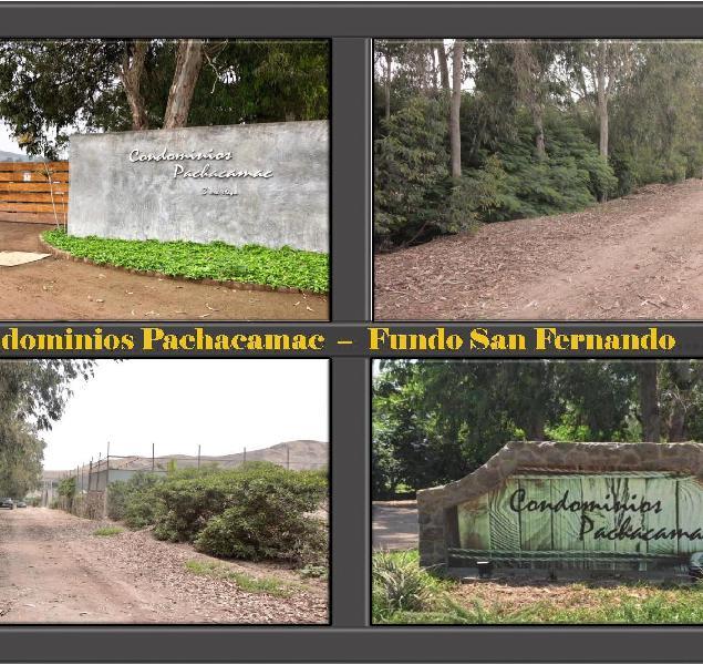 Terreno en Venta - Condominios Pachacamac - Fundo San