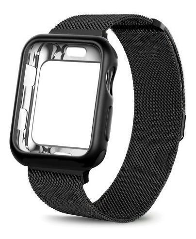 Correa Loop Milanese De Acero + Case Apple Watch 42mm 38mm