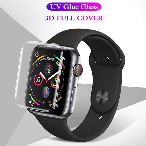 Mica Vidrio Templado 3d Apple Watch Serie 4 5 44mm Luz Uv 44