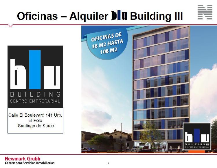 Alquiler de Oficina en Santiago de Surco