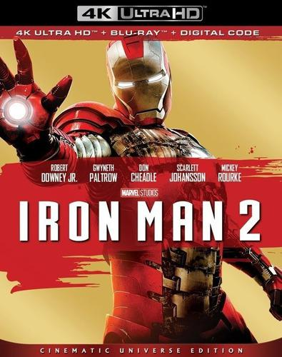 Blu Ray Iron Man 2 En 2d - 4k - Stock - Nuevo - Sellado
