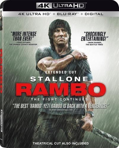 Blu Ray Rambo 4 En 2d - 4k - Stock - Nuevo - Sellado