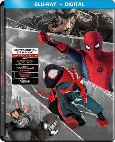 Blu Ray Spiderman 1&2 / Into/ Venom (Steelbook) Stock