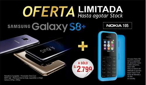 Samsung Galaxy S8 Plus Gratis Nokia 105