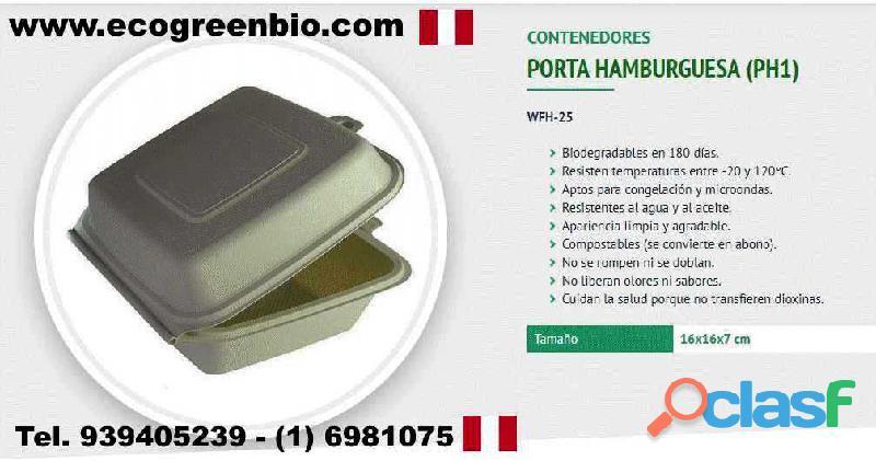 CONTENEDORES VASOS CUBIERTOS biodegradables Lima Perú para