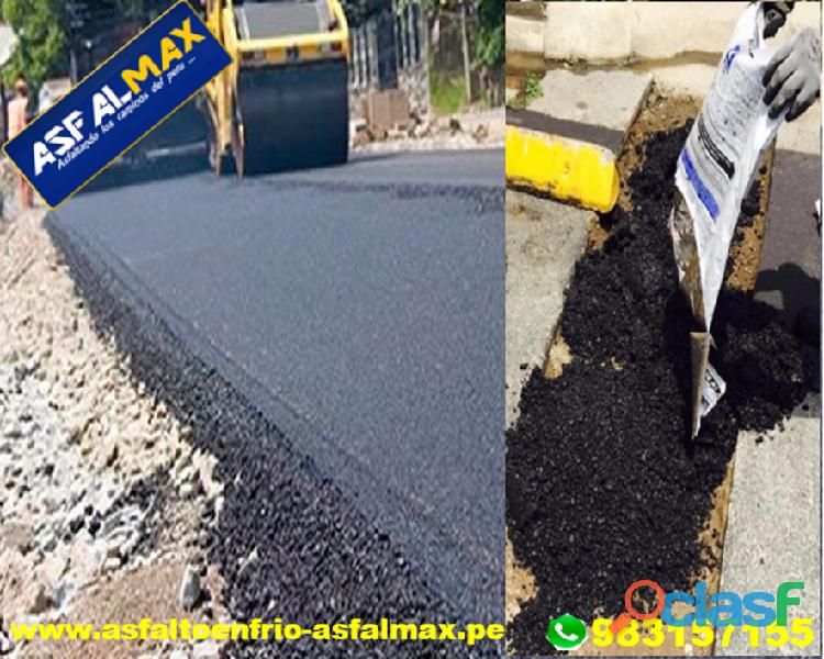 venta de asfalto en frio puesto en obra en lima