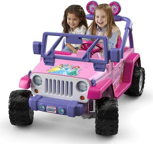 Auto Jeep Wangler Princesa Disney A Bateria Fisher Price