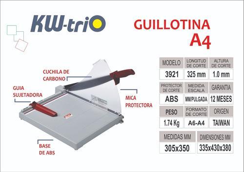 Guillotina Kwtrio 3921 A4 S/. 130