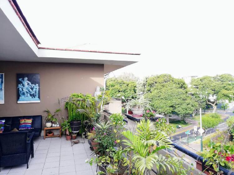 San Isidro X Salaverry Dpto. Amoblado Amplia Terraza 2 Dorm.
