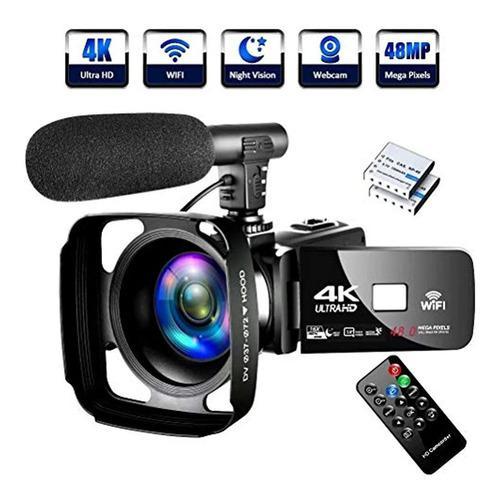 4k Video Camera Ultra Hd Camcorder 48.0mp Ir Night Vision Di