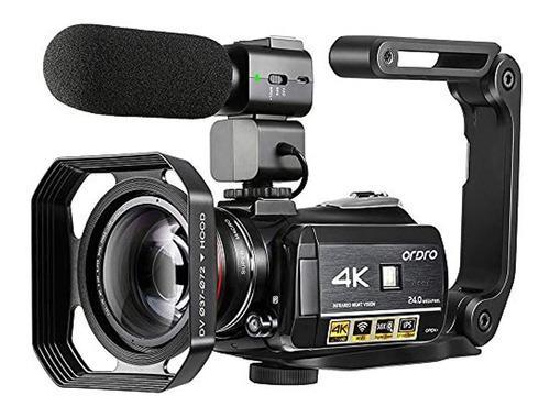 Cámara De Vídeo 4k Ordro Ac3 Ultra Hd 1080p 60fps Ir