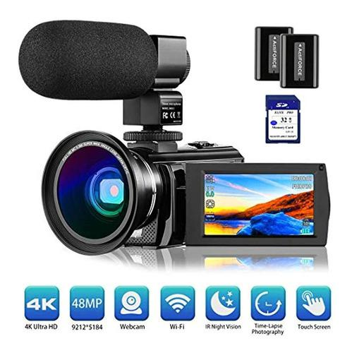 Cámara De Vídeo 4k Rosdeca Ultra Hd 48.0mp Wifi Digital