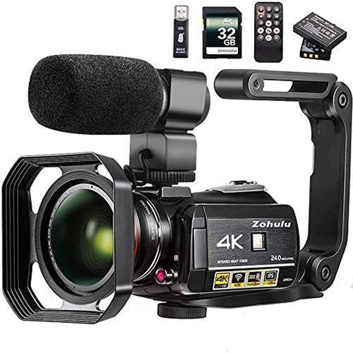 Cámara De Vídeo 4k Zohulu Wifi Ultra Hd Cámara Vlog Para