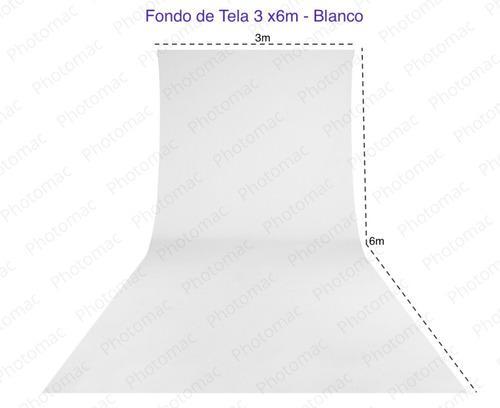 Fondo De Tela Blanco 3x6m Para Fotografia O Video