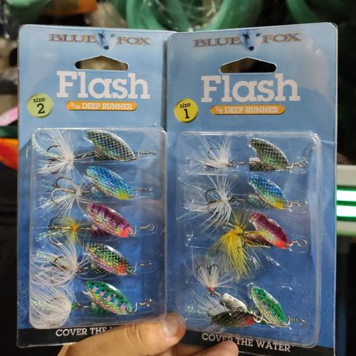 Mariposa Blue Fox Flash Americano Pesca Trucha