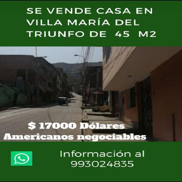 Oportunidad... se vende casa de 45 m2 en Lima