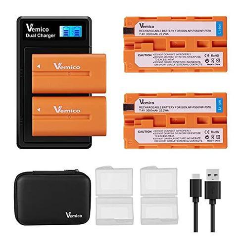 Vemico Np-f550 - Batería De Repuesto Para Np