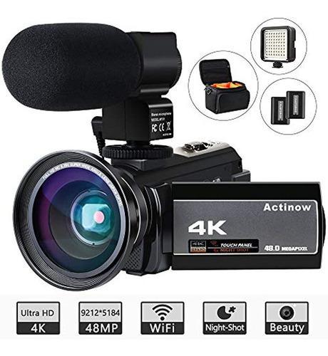 Video Camera 4k Camcorder Ultra Hd 48mp Wifi Ir Night Vision