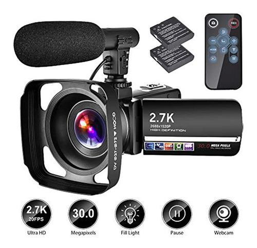 Videocámara Con Micrófono Ytbe Cámara Grabadora 2.7k